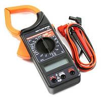 Цифровые токовые клещи (мультиметр) Digital DT266F + чехол + батарейка Крона