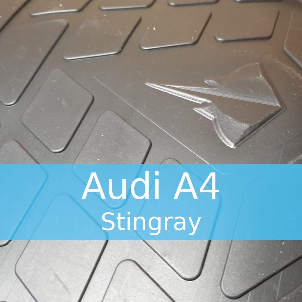 Резиновые коврики в автомобиль Audi A4 (B5, B6, B7, B8, B9) (Stingray)