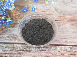 Ворсовой порошок (бархатная пудра, флок) ТЕМНО-СЕРЫЙ, 3 грамма