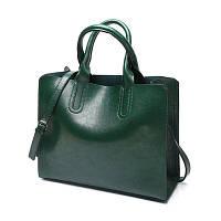 Большая женская сумка Classic зеленая, фото 1