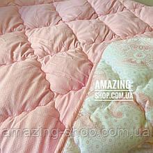 "Одеяло полуторное на холлофайбере ""ODA"" 155*210 см | Тепла ковдра, наповнювач холлофайбер. Стеганое одеяло ОДА"