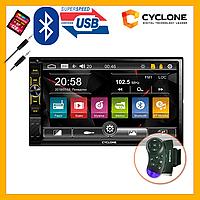 2Din Windows автомагнітола CYCLONE MP-7120 WRC AUX Bluetooth USB microSD