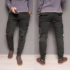 Утепленные зимние джинсы мужские джоггеры на флисе Forex 1868-grey. Размеры 30,34,36,40