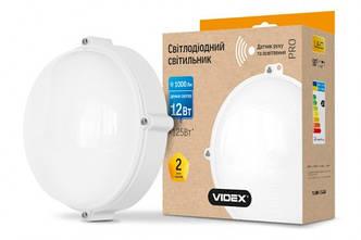 LED cветильник ЖКХ VIDEX круг белый сенсорный 12W 5000K 1000Lm IP65
