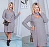 Платье женское с чокером PY/-019 - Серый