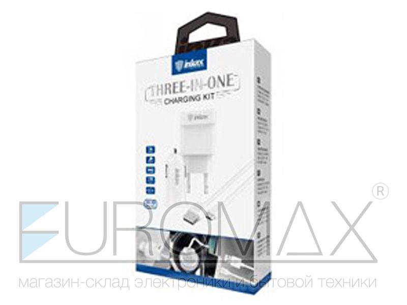 Зарядное устройство 220В с кабелем USB - micro USB Inkax 150шт CD-43-M-V8