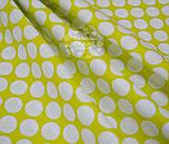 Отрез ткани горчичного цвета с густыми горохами размером 3 см (№ 674а), размер 49*160, фото 3