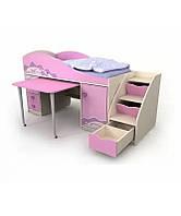 Кровать-чердак Pink Pn-40-1 для девочки, фото 1