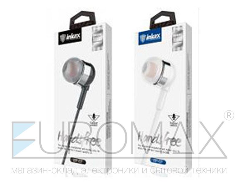 Наушники вакуумные с микрофоном металл Inkax 300шт EP-07