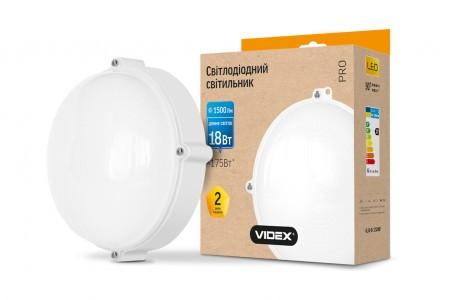 LED cветильник ЖКХ VIDEX круг белый 18W 5000K 1500Lm IP65
