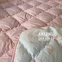"Одеяло двухспальное на холлофайбере ""ODA"" 175*210 см | Тепла ковдра, наповнювач холлофайбер."