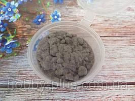 Ворсовой порошок (бархатная пудра, флок) СЕРЫЙ, 3 грамма