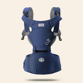 Эрго - рюкзак хипсит для переноски детей 3 в 1 Aiebao синий