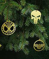 Игрушки на елку Marvel Avengers Мстители Игрушки серебряные Золотое новогодние украшение Виниловый набор