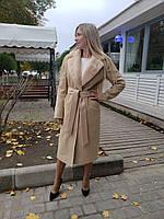 Пальто женское с норковым воротником ПТ-16