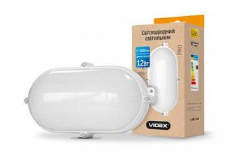 LED cветильник ЖКХ VIDEX овал белый 12W 5000K 1000Lm IP65