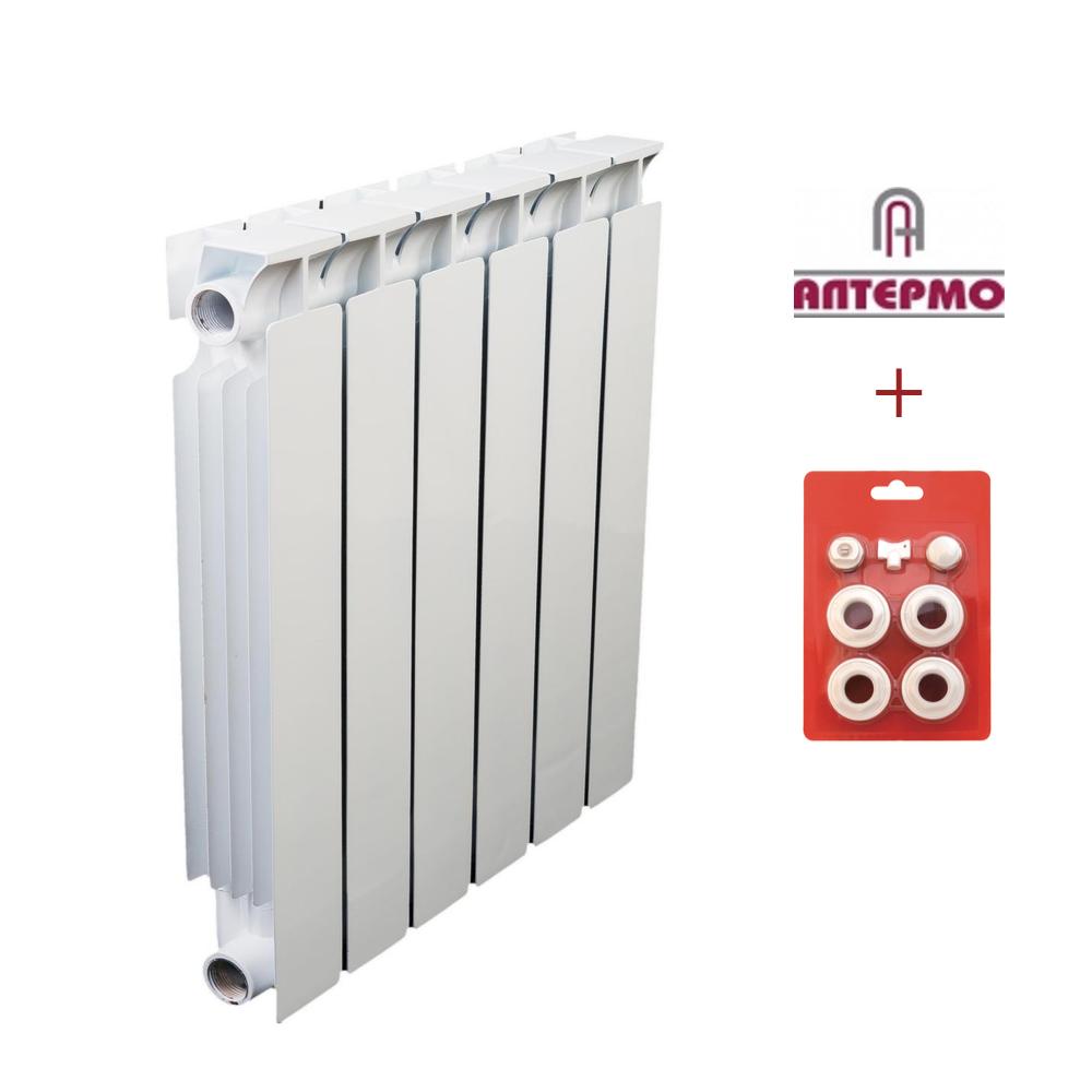 Биметаллический радиатор Алтермо ЛРБ 500/80 10 секций в сборе, фото 1