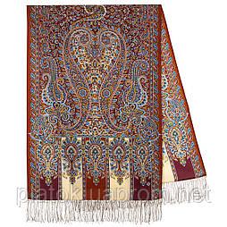 Чотири вітри 1881-66, павлопосадский шарф-палантин вовняної з шовковою бахромою