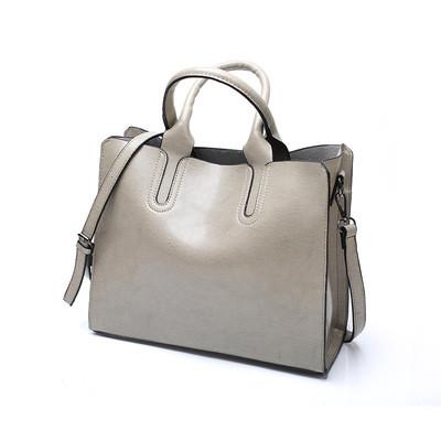 Большая женская сумка Classic серая