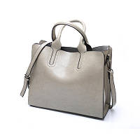 Большая женская сумка Classic серая, фото 1