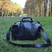Женская сумка-саквояж из натуральной кожи (5023/Black)