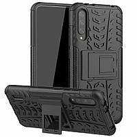 Чехол Armored для Xiaomi Mi A3 (Mi CC9e) противоударный бампер с подставкой черный