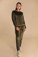 Велюровый повседневный костюм, хаки XS, S, M