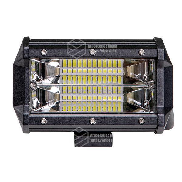 Фара LED прямоугольная 72W (24 диода) 133 мм