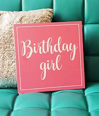 "Табличка ""Birthday Girl"""