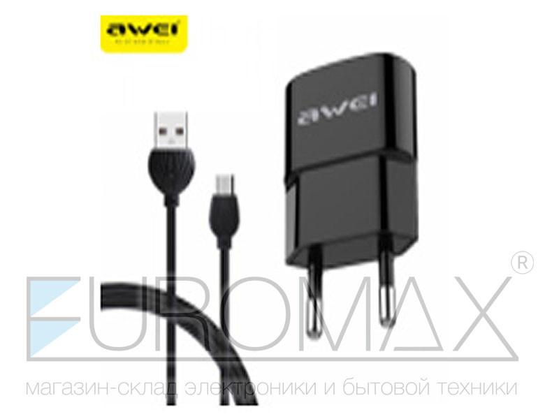 Зарядное устройство 220В USB AWEI 100шт C-831
