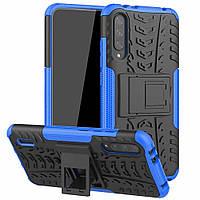 Чехол Armored для Xiaomi Mi A3 (Mi CC9e) противоударный бампер с подставкой синий