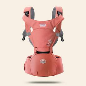 Эрго - рюкзак хипсит для переноски детей 3 в 1 Aiebao красный