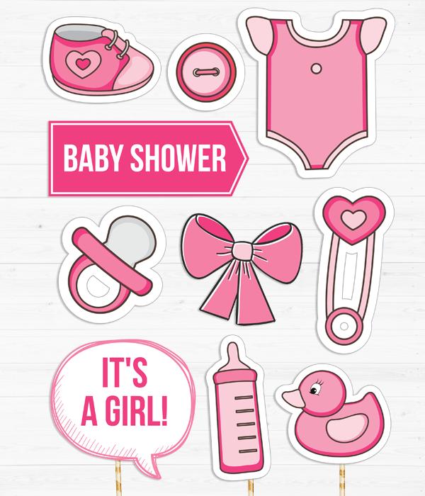 """Набор аксессуаров для baby shower """"Girl"""""""