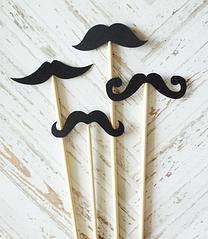 """Набор аксессуаров для фотосессии """"Black mustache"""" (4 шт.)"""