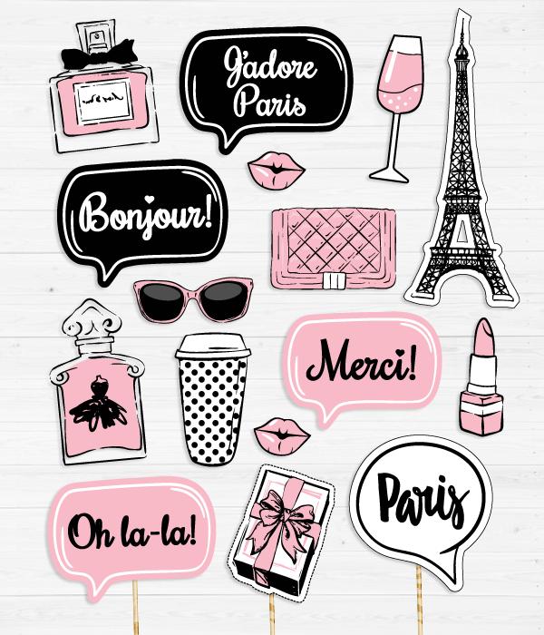 """Набор аксессуаров для фотосессии """"Paris fashion"""""""