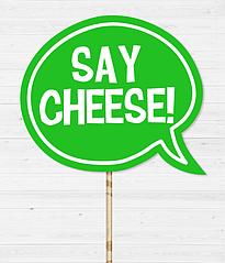 """Табличка для фотосесії """"Say cheese"""""""
