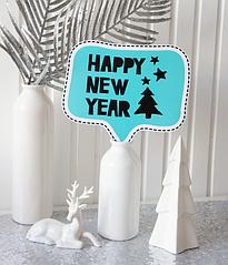 "Табличка для новогодней фотосессии ""Happy New Year!"""