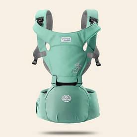 Эрго - рюкзак хипсит для переноски детей 3 в 1 Aiebao зеленый