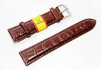 Ремешок для наручных часов кожаный Modeno Spain с классической застежкой, коричневый, 22 мм