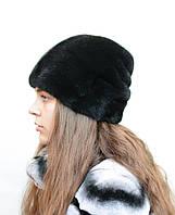 Шапка норковая женская Подковка хлястик, фото 1