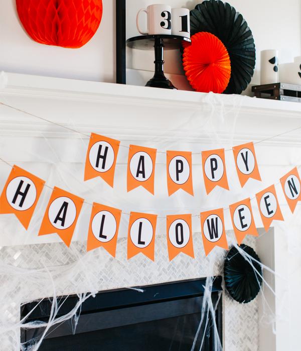 "Паперова гірлянда ""Happy Halloween"""