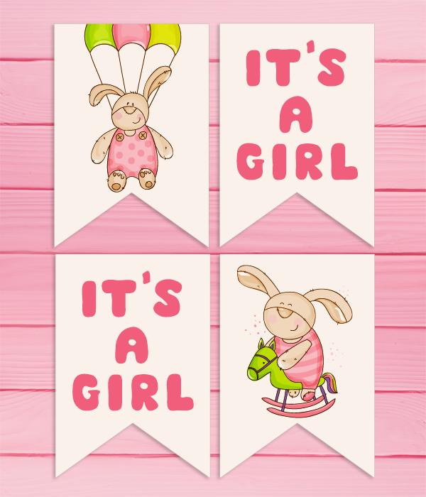 "Гирлянда ""It's a Girl"""