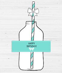 Набір етикеток на пляшки і трубочок з бантиками (10 шт.)