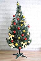 Штучна ялинка SUNROZ Новорічна сосна 1,7м Зелена з білими кінчиками (SUN5916)
