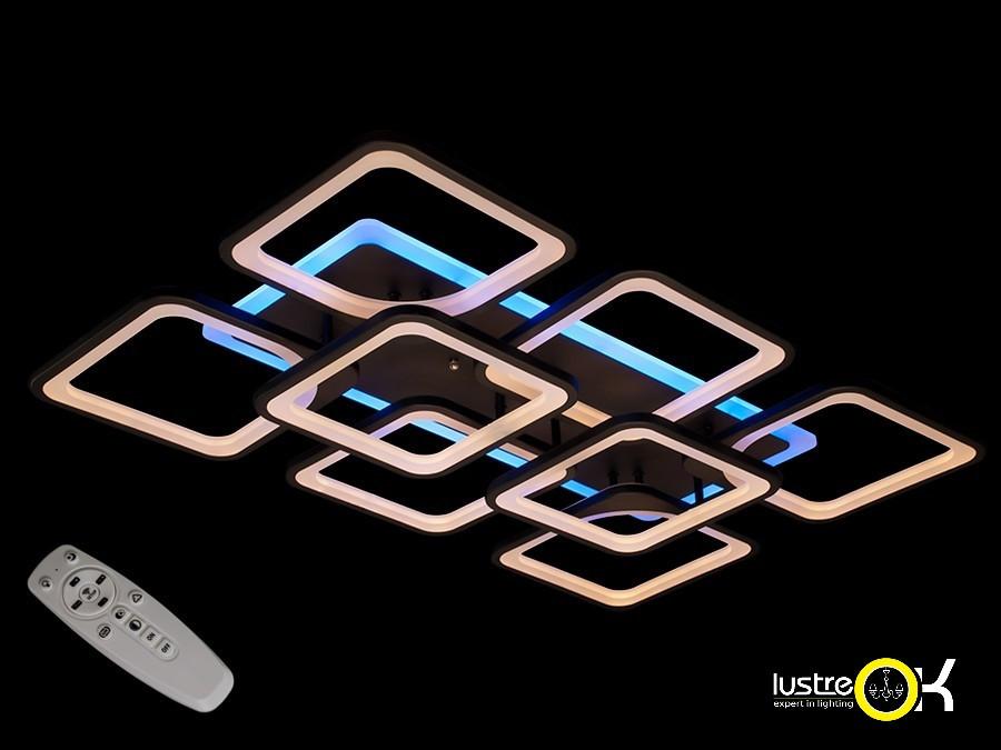 Люстра светодиодная потолочная Люстра с пультом MX2281/6+2 BK Led Dimmer