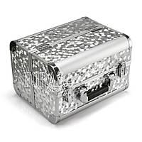 Алюминиевый кейс для косметики, серебристый