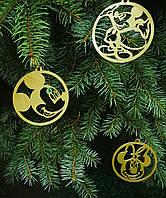 Герои мультфильмов диснея Детские украшения Игрушка на новогоднюю елку Виниловый декор на новый год