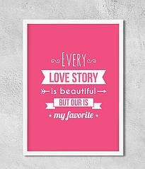 "Постер ""Every love story..."""