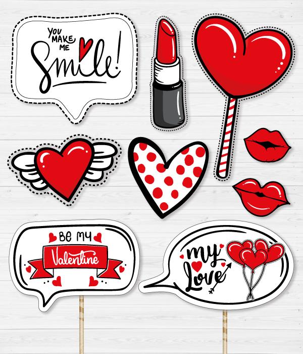 """Набір аксесуарів для фотосесії """"Be my Valentine"""""""