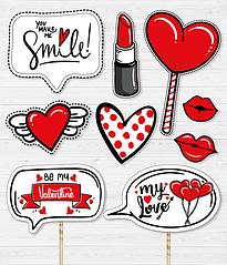 """Набор аксессуаров для фотосессии """"Be my Valentine"""""""
